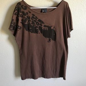 Retro Bisou Bisou Leopard T shirt